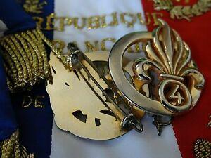 Légion Étrangère-INSIGNE MILITAIRE DU BÉRET VERT 4°R.E.+ATTACHE (SANS MÉDAILLE)
