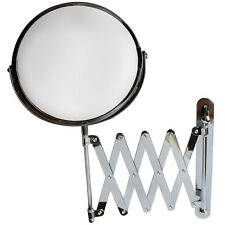 "7"" Wall Mounted 3x Magnifying Extending Bathroom Make up Shaving Vanity Mirror"