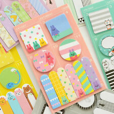 Animal Party Schedule Marker Self-Adhesive Memo Pad Sticky Note Bookmark