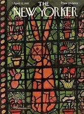 1952 New Yorker April 12 - Stained Glass Rabbit by Birnbaum