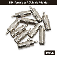 10 X BNC Female to RCA Male Coax Cable Connector Adapter Plug for CCTV Camera