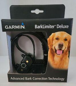 Garmin BarkLimiter Deluxe Black Rechargeable Advanced Dog Training Bark Collar