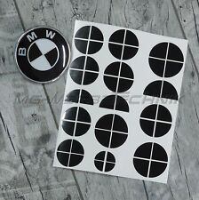 BMW Emblem Logo Aufkleber Ecken 1er 2er 3er 4er M3 X1 X3 X4 X5 schwarz glänzend