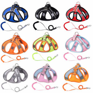 Reflective Pet Dog Harness Leash Puppy Cat Safety Vest-style Chest Strap Leashes