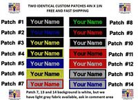 """**LOVE IT OR IT'S FREE** TWO IDENTICAL Custom Embroidered NAME TAG """"Iron on"""""""