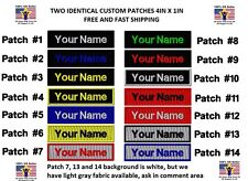"""*Love It Or It'S Free* Two Identical Custom Embroidered Name Tag """"Iron on"""""""