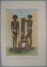 1889 Reclus print NEGRITO PEOPLE OF PHILIPPINES (#42)