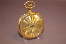 1887 RARE PATEK PHILIPPE 14K Yellow Gold Dial & Case Open Face Pocket Watch