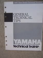 1987 Yamaha Motorcycle Training Manual General Technical Tips Cycle ATV RIVA  L