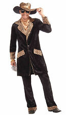 Mens The Big Cat Pimp Suit Costume Disco 1970's Party Big Pimpin Adult Standard