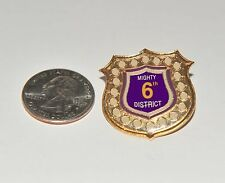 Omega Psi Phi District Badge/Lapel Pin Mighty 6th District Limited Pin