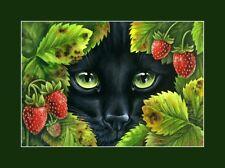Black Cat  Print Eyes Of A Hunter by I Garmashova