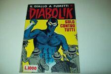 DIABOLIK R PRIMA RISTAMPA SERIE BIANCA-N. 95-SOLO CONTRO TUTTI-DI RESO-14/6/1982