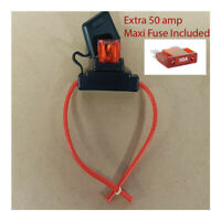 50amp Maxi Fuse with Weather proof Holder 10AWG (8 B&S) wire + Extra 50amp  Fuse