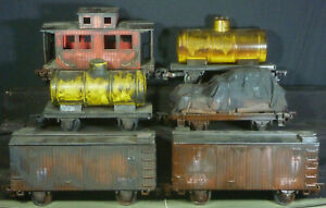 6x G Gauge Model Train Carriages Wagons Boxcar Caboose Locomotive Railway Scale