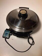 Very Nice Electric Skillet Liquid Oil Core Fry Pan West Bend 17884