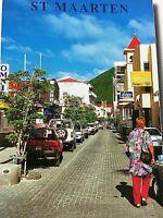 Vintage Postcard Philipsburg Front Street St. Maarten French West Indies  P7
