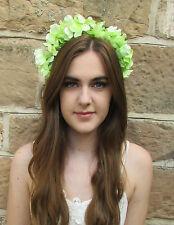 Vert Menthe Fleur D'hortensia Cheveux Couronne Festival Bandeau Marguerite
