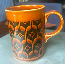Vintage Hornsea pottery brown Heirloom mug by John Clappison 1960s