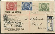 FDC: 1946 (14 Oct.) Mitchell set on Rex Bodin cover with 'FIRST DAY COVER'