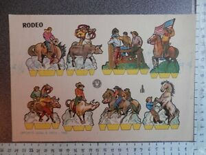 RECORTABLE MILITAR ANTIGUO COLECCION BRUGUERA RODEO AÑO 1960