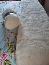 DUNELM Cream White faux Fur Bed Runner Double or King 50 X 240 cms