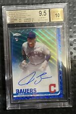 2019 Topps Chrome Jake Bauers Blue Wave RC Auto /150 BGS 9.5