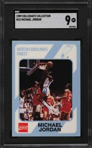 1989 Collegiate Collection North Carolina Michael Jordan #13 SGC 9 MINT