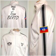 EVERLAST Team Andre BERTO Haiti 2010 White Jacket Zip Mens M EUC Boxing