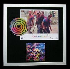 COLDPLAY+SIGNED+TOP QUALITY FRAMED+MYLO XYLOTO=100% GENUINE+EXPRESS GLOBAL SHIP