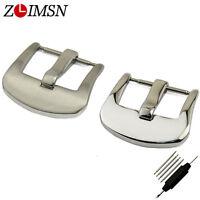 ZLIMSN 18 - 26mm Silver Black Rose Gold Stainless Steel Watch Band Strap Buckle