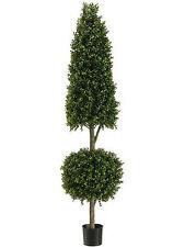 6' Artificial Boxwood Cone Ball Topiary UV Outdoor Tree Pool Patio Porch Deck