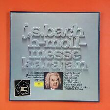 JS BACH MESSE H MOLL BWV232 Mass in B Minor 2740 112 GEMA  3 LP VG++ Box VG++
