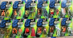 Kenner STAR WARS  Power of the Force 1997 BIG LOT of 12 Carded Figures