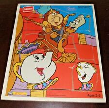 Playskool Disney's Beauty & the Beast Staircase Serenade 8 pc Wood Puzzle 287-03