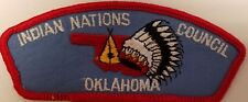 Indian Nations Council council shoulder patch csp t-1 1ST ISSUE Tulsa, Oklahoma