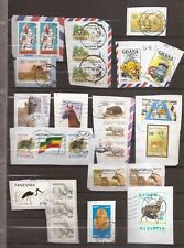 LOT OF AFRICAN STAMPS ON PAPER