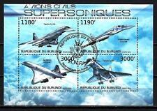 Avions Burundi (61) série complète de 4 timbres oblitérés