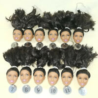 Wholesale genuine 1/6 black barbie Nikki doll head 10pcs/lot black hair NO4