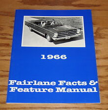 1966 Ford Fairlane Facts Feature Manual Brochure 66