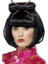 Oriental FEMMES FEMMES CHINE poupée Perruque Déguisement japonais Noir perruque