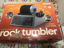 Professional Rock Tumbler Kit Gems GritMachine Digital 9-day Polishing Timer