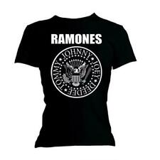 RAMONES Seal Ladies T Shirt Tee Womens Official Licensed Band Merch Skinny Fit