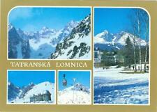 Czechoslovakia Slovakia Tatranska Lomnica used  postcard 4 views never cancelled