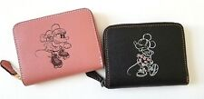 NEW COACH x Disney Mickey minnie mouse Leather Small medium Zip Around Wallet