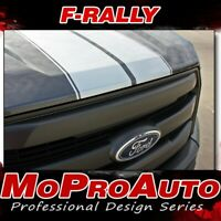 2015-2019 Ford F-150 Split Center F-RALLY Racing Stripes Vinyl Decals 3M Graphic