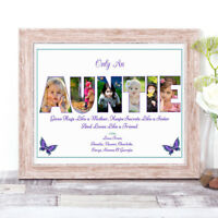 Personalised AUNTIE Photo Collage Word Art Print Gift Birthday Mother's Day A4