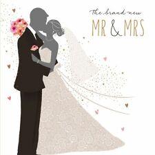 JAZ-BAZ Hochzeit Glitter-Karte Trend Grußkarte MR & MRS Brautpaar 16x16cm