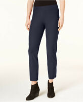 Eileen Fisher System Crepe Stretch Slim Ankle Pants S Midnight