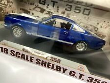 New ListingShelby Collectibles 1966 Shelby Gt350 1:18 Scale Die-Cast Blue / White Stripes